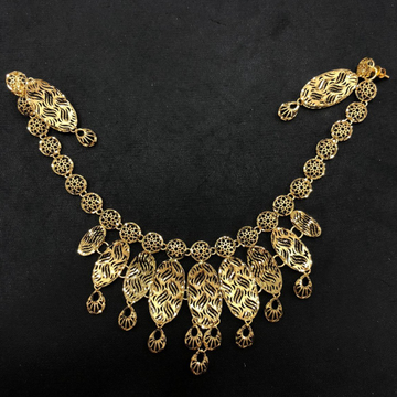 22K Gold Delicate Necklace Set by