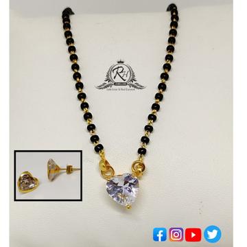 22 carat gold antique ladies mangalsutra RH-MN572