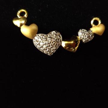 22kt Gold Heart Desgin Mangalsutra pendal RH-MSP45