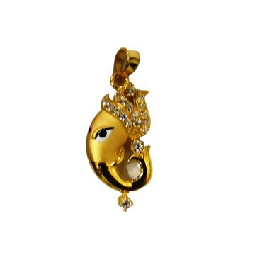 22kt gold casting lord ganesha pendant