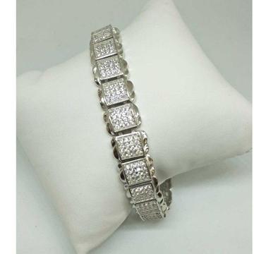 925 Sterling Silver Diamond Gents Bracelet