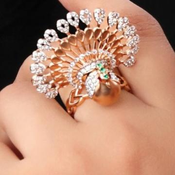 18 carat rose gold classical ladies rings RH-LR472