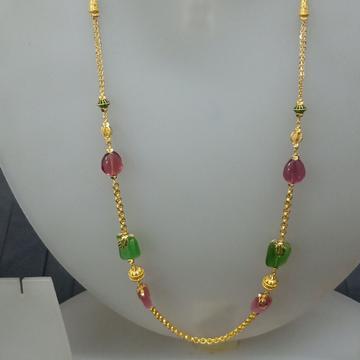 22 ct colorful fancy mala by Celebrity Jewels