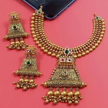 916 Gold Antique Necklace Set by