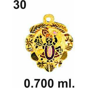 916 Gold Shreenathji Pendant DC-P030