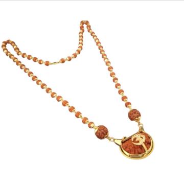 916 rudraksh gold kanthi with om pendent