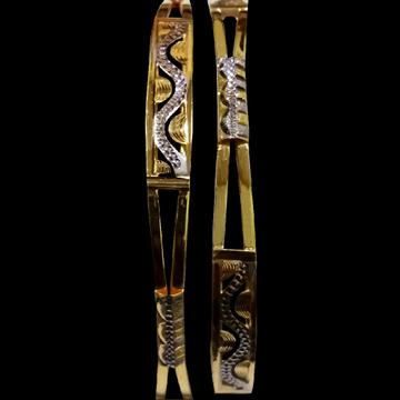22kt Gold cz Diamond Bangle SG-27 by