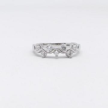 925 Sterling silver Diamond fancy ladies Ring by Zaverat