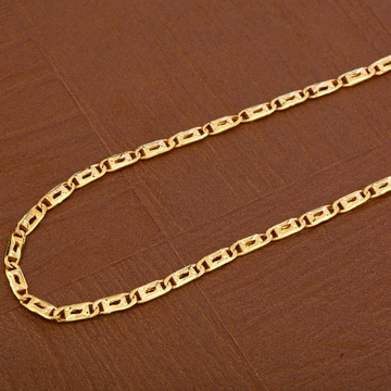 Mens Plain Gold Chain-MNC38