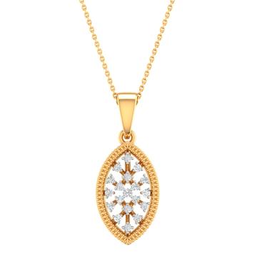 Fancy real diamond pendant by