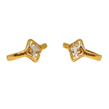 18K Plain Gold Fancy Earrings MGA - BLG0560