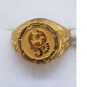 22KT Gold Flower Design gents ring SJ-GR/82