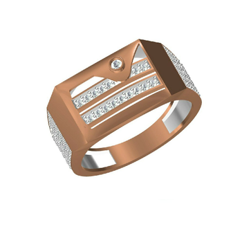 18Kt Rose Gold Exclusively Men's Wear Ring-31327