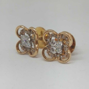 REAL DIAMOND ROSE GOLD BRANDED RING