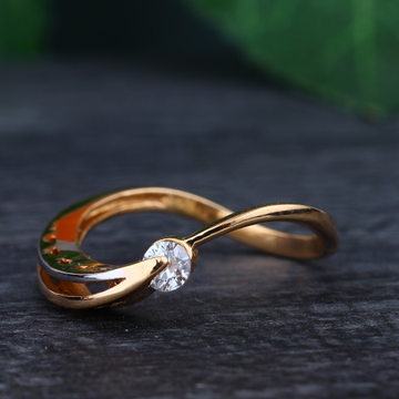 916 Gold Hallmark One Stone Classic Ring