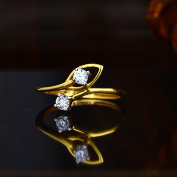 22KT Gold Leaves Design Ring