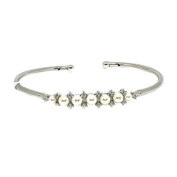925 Sterling Silver Pearl Bracelet MGA - BRS0246