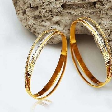 22 K Fancy Bangles. NJ-B01001