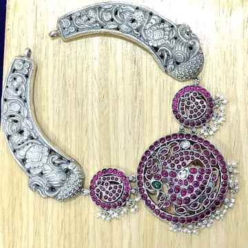 Blissful peacock deep carving neckpiece by puran