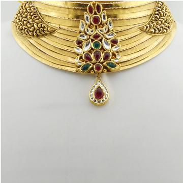916 Gold Antique Bridal Necklace Set RHJ-3312