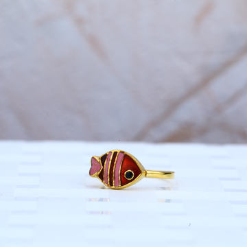 Fish Kid Gold Ring-KR55