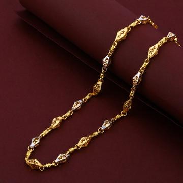 Mens Exclusive 916 Gold Cz Plain Turkey Chain-MTC18