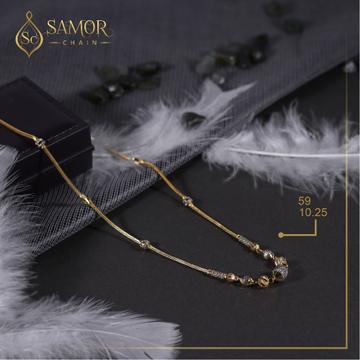 22kt gold dokiya design chain for women by Samor Jewellers