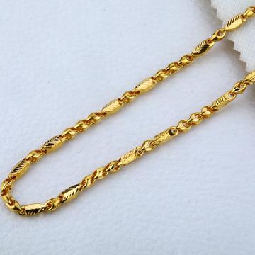 916 Plain Gold Choco Mens Chain-MCH 17
