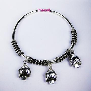92.5 sterling silver cz stone Kada bracelet ML-82