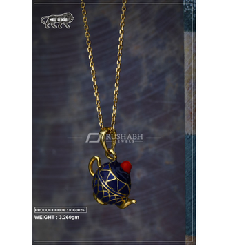18 carat gold Kids chain pendent kettle icg0025 by