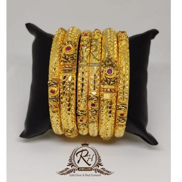 22 carat gold ladies bridal bangle set rh-bk985