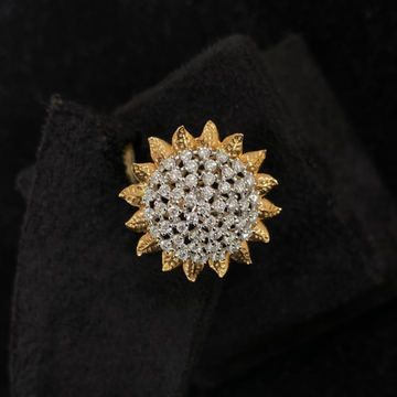Flower Diamond Ring by
