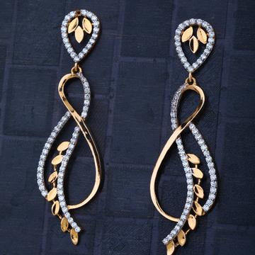 916 Gold Everstylish Hallmark CZ earring