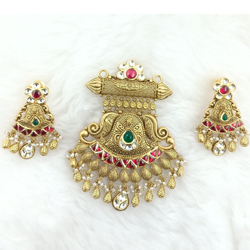 916 GOLD ANTIQUE PENDENT SET by Ranka Jewellers