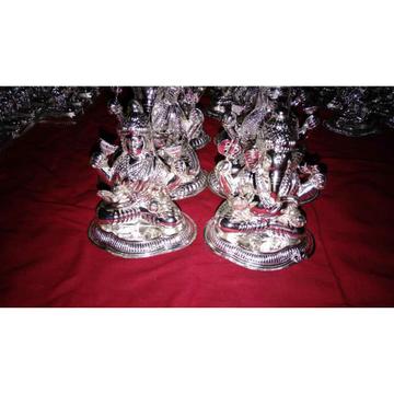 Hollow Poli Finish Ganesh Laxmi Plain Murti(Bhagvan,God,Idols) Ms-2293