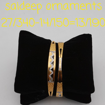 22 kt design  copper bangles kadli by Saideep Jewels