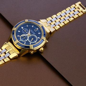 22 carat gold hallmark designer mens watch rh-ga485