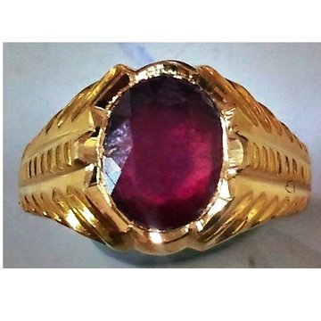 22kt gold close setting gemstone gents ring hgsr-001