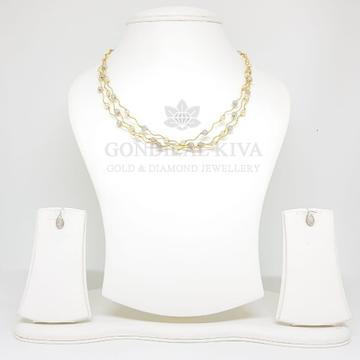 18kt gold necklace set gnl26 - gft53