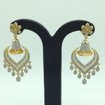 White CZ Stones Ear Hangings JER0062