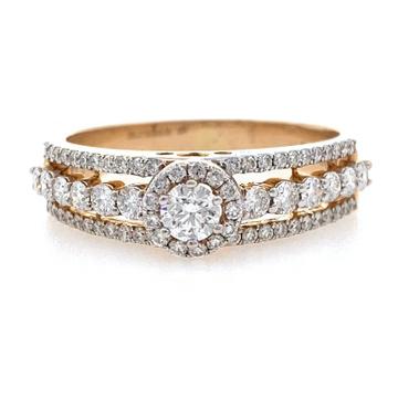 18kt / 750 rose gold engagement diamond ring 8lr26...