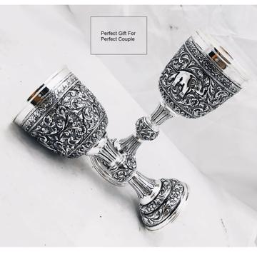 Puran pure silver wine glasses with fine antique c...