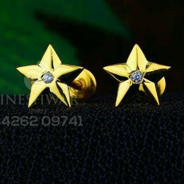 18kt fancy star shape cz gold ladies tops atg -0221