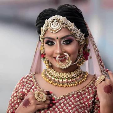 Pachhi kundan nackless with earrings and headacces...