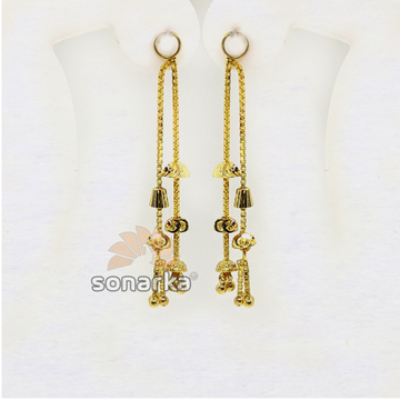 Double Line Gold Latkan for Earrings SK - E005