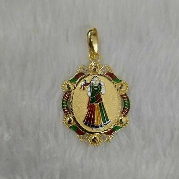 Gold bhatiyani maa pendant