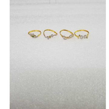 916 Gold Delicate Design CZ Ladies Ring
