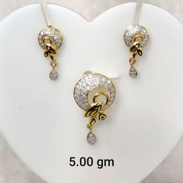 Daily wear oxidised ladies pendant set by