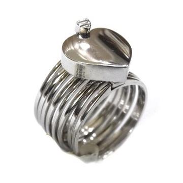 925 Sterling Silver Heart Shape Ring MGA - SR0079