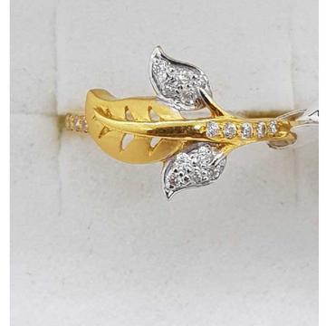 916 ladies ring leaf with studded SJ-LR/40